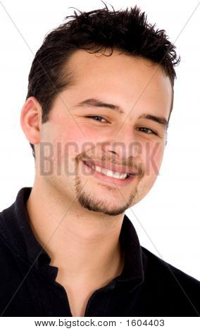 Casual Smiling Man Portrait
