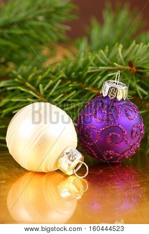 Christmas decoration elegant glass baubles in different colors