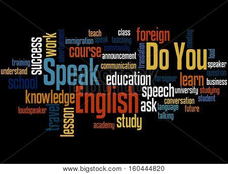Do You Speak English, Word Cloud Concept 3