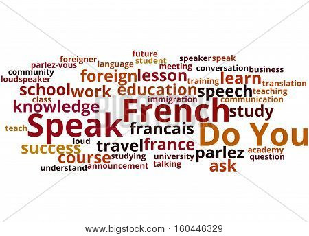 Do You Speak French, Word Cloud Concept 9