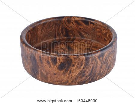 Eat a cup made of finely polished wood.