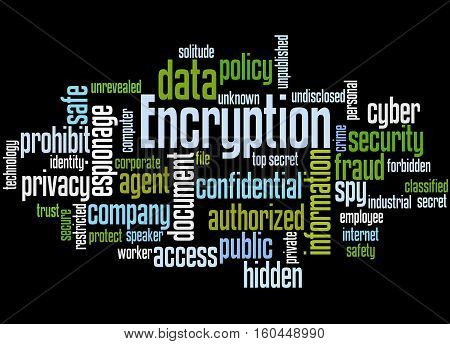 Encryption, Word Cloud Concept 7