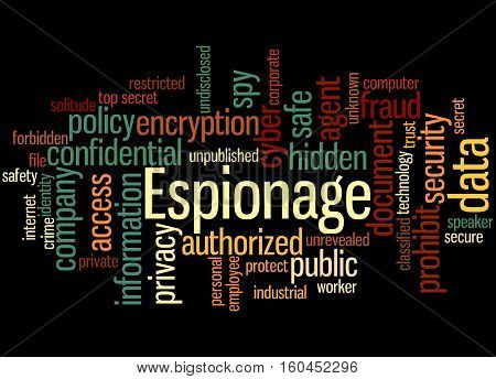 Espionage, Word Cloud Concept 4