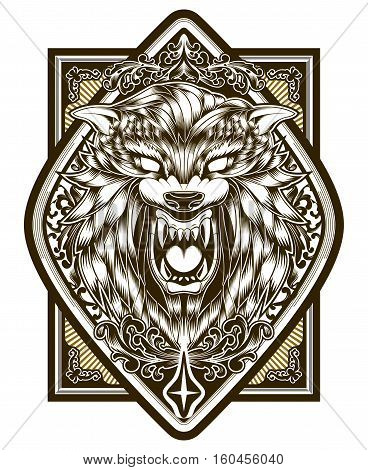 Wolf Poster illustration vector Print T-shirt Design Tattoo