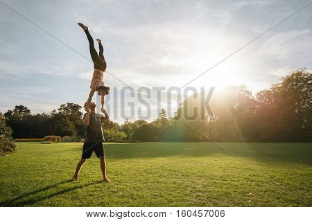 Acroyoga Workout In Park