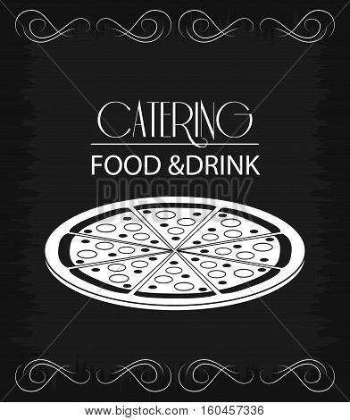 pizza cutlery catering service menu food icon, Vector illustration