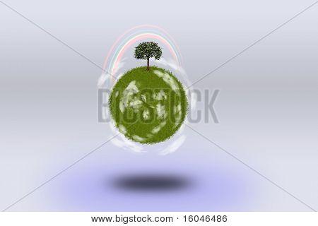 High Resolution Green Planet