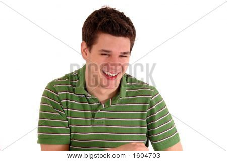 Young Guy Laughing