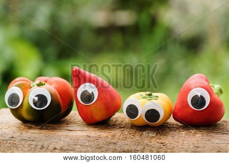 peppers with eyes cartoon character