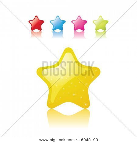 Icons Set of Christmas stars. vector