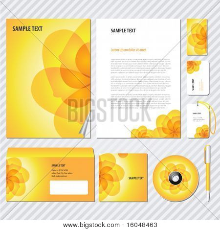 Flower Template for Business artworks. Vector