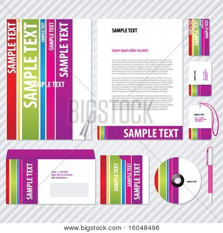 Rainbow Template for Business artworks. Vector