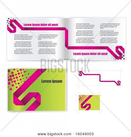 vector de plantilla cubierta Brochure (folleto)