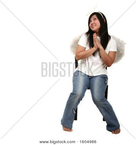 Angel Girl Praying