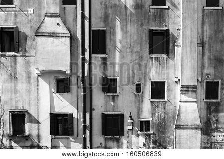 Architecture - A facade with randomly arranged windows