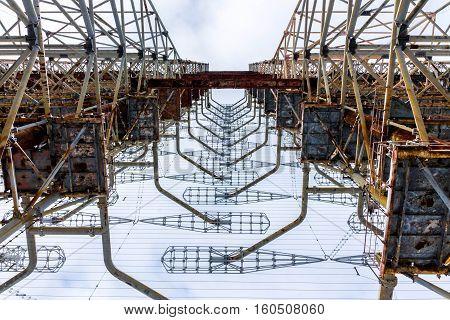 View From Below Radar Duga. Chernobyl, Ukraine.