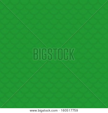 Fish scale. Green Neutral Seamless Pattern for Modern Design in Flat Style. Tileable Geometric Vector Background.