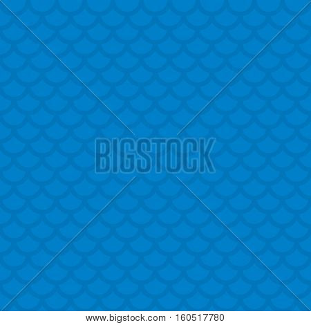 Fish scale. Blue Neutral Seamless Pattern for Modern Design in Flat Style. Tileable Geometric Vector Background.