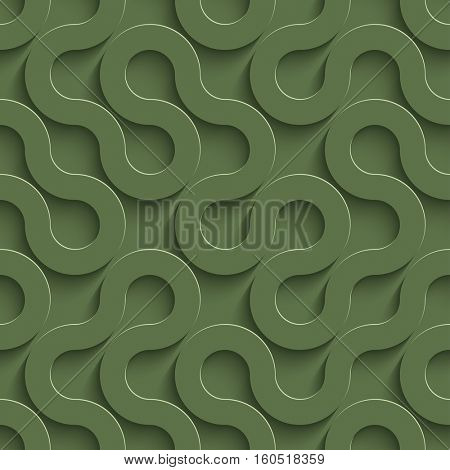 3D Seamless Pattern in Kale Color. Neutral Tileable Vector Background for Material Design.