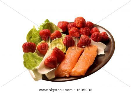 Strawberries  With Salmon