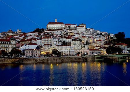 Coimbra, Portugal, November 14, 2016: A part of the old town of Coimbra in Portugal.