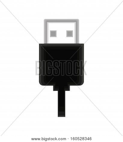 usb connector isolated icon vector illustration design