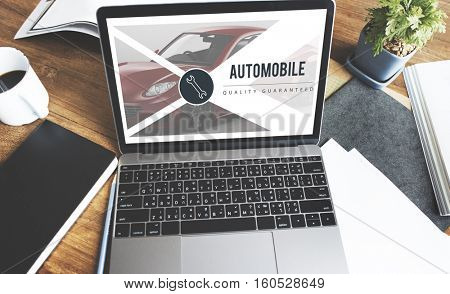 Computer Screen Auto Concept