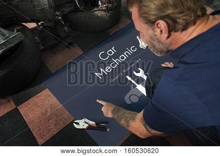Automobile Car Mechanic Service Maintenance Concept