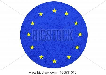 European Union flag ,3D European Union national flag illustration symbol