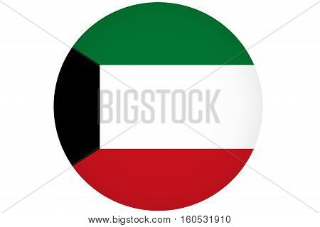 Kuwait flag  Kuwait national flag illustration symbol.