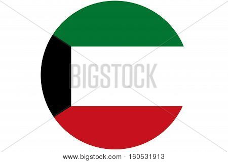 Kuwait flag ,3D Kuwait national flag illustration symbol.