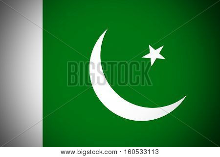 Pakistan flag Pakistan national flag illustration symbol.