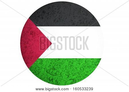 Palestine flag Palestine national flag illustration symbol.