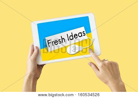 Fresh Ideas Imagination Inspiration Concept