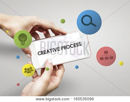 Creative Process Marketing Strategy Development Concept