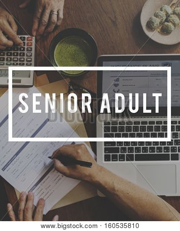 Retirement Plan Senior Adult Concept
