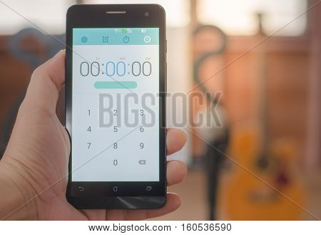 Handle the phone screen background.technology, time  notebook, object show