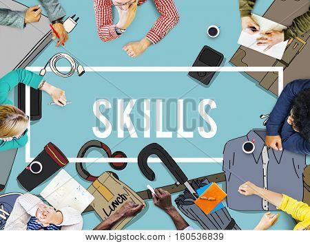 Training Skills Development Improve Concept