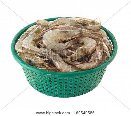 Basket Of Raw Shrimps