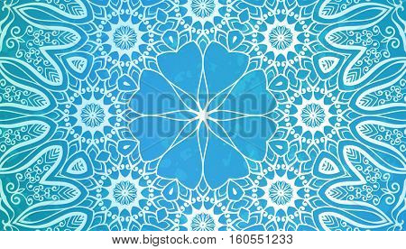 Abstract background, Round ornament texture blue color
