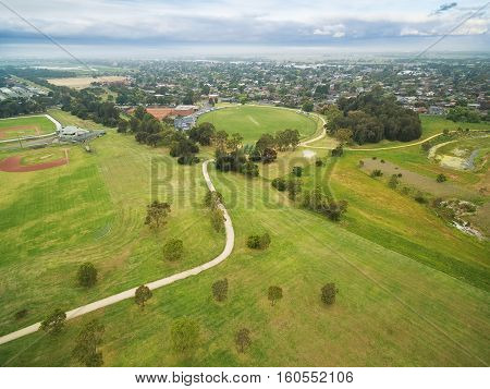 Aerial View Of Sports Oval
