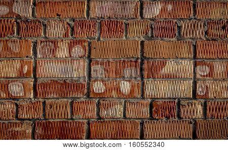 Brickwork. Grunge brick wall. Rough brick wall. Grunge brick background. Brick wall