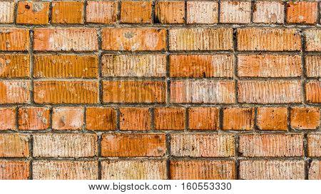 Brickwork. Grunge brick wall. Rough brick wall. Grunge brick background. Bright brick wall