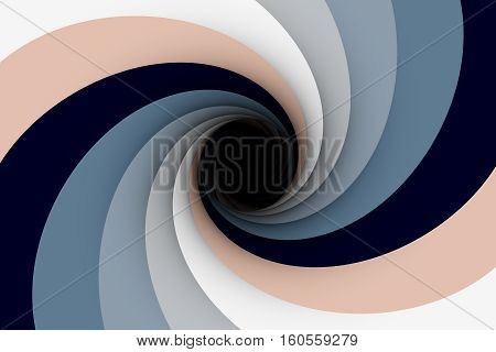 black hole in brown colors 3D illustration