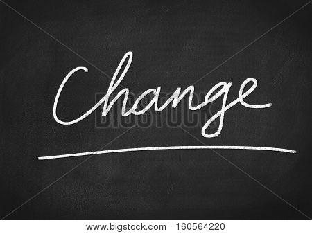 change word text on blackboard chalkboard background