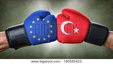 A Boxing Match Between The European Union And Turkey