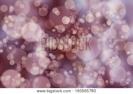 abstract pink Bokeh circles for Christmas background glitter light Defocused and Blurred Bokeh