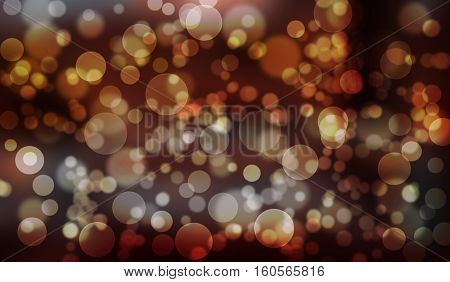 Red Bokeh background abstract Bokeh circles for Christmas background glitter light Defocused and Blurred Bokeh