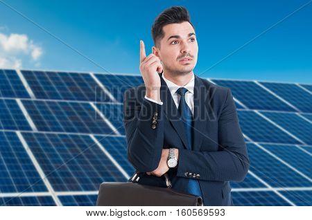 Pensive Business Man Having An Idea