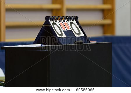 image of sports counter for table tennis